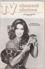 VINTAGE PRISCILLA PRESLEY TV CHANNEL CHOICES COVER PHOTO BOA CONSTRICTOR