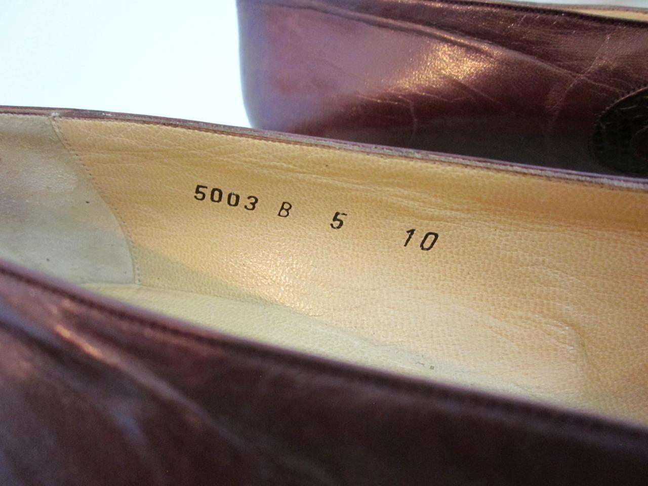 Bottega Veneta Heels Heels Heels Sz 10 Brown Sculptured Leather & Lizard Dustbag Rt  1150 10b8e7