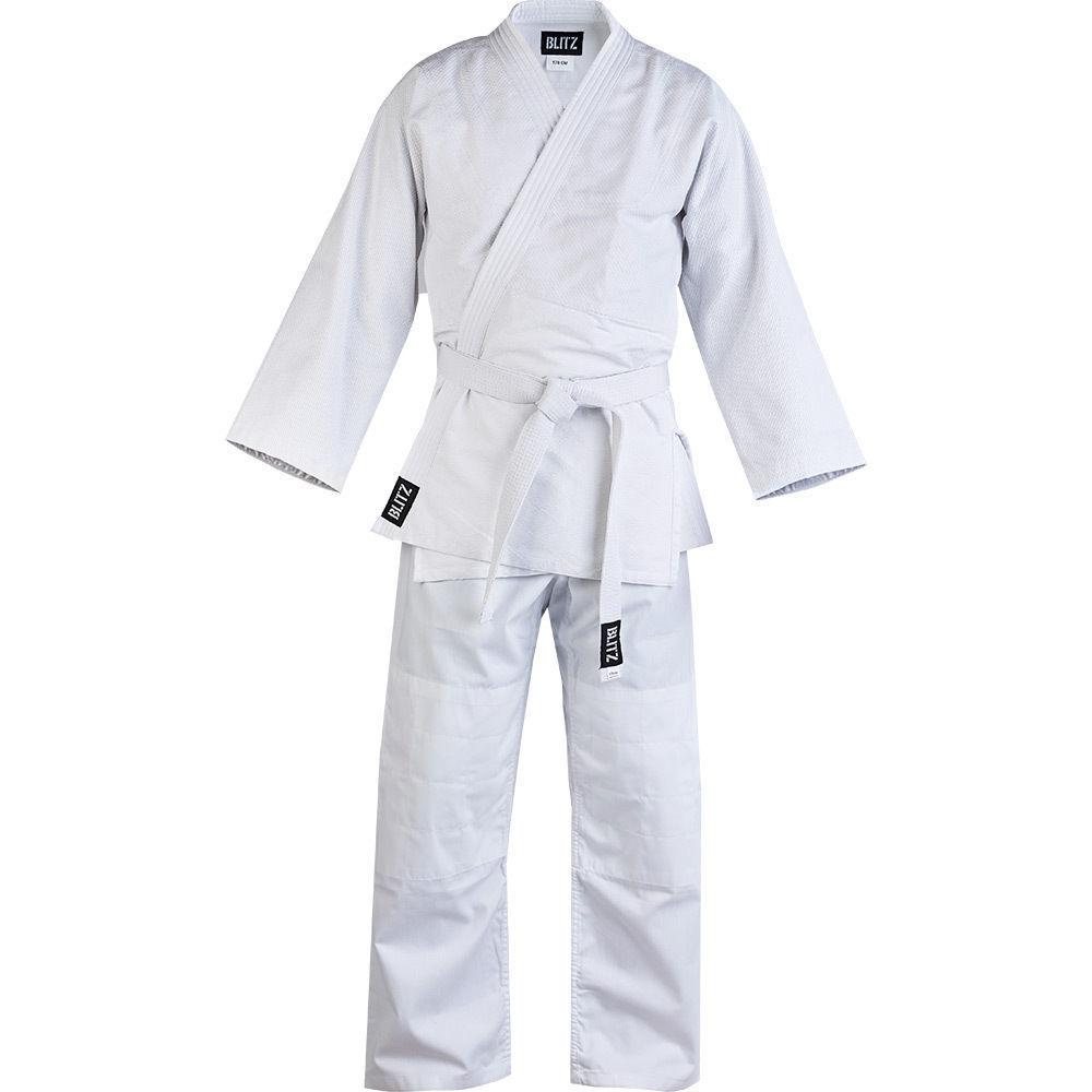Blitz Adults Polycotton Student Judo  Suit - 350gsm White - Uniform Gi Training  fashion