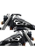 Motorcycle Gas Tank Badge Flame Decal Sticker Set 13x 5.5 Universal Mf119