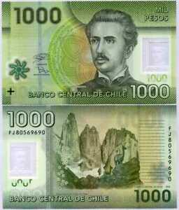 Chile 1000 1 000 Pesos 2018 2020 P 161 Polimero Uncirculated Ebay
