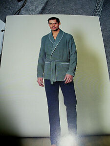 Dettagli su giacca da camera YUO 365 LINCLALOR cotone caldo punto milano Tg 54 grigio perla