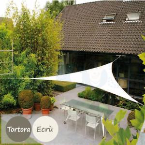 Tende Triangolari Da Esterno.Dettagli Su Tenda A Vela Parasole Ombreggiante Sole Telo Ombra Triangolare Da Giardino 230g