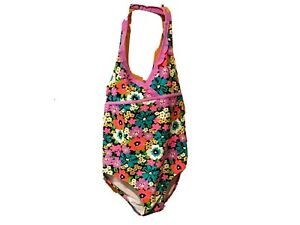 XHILARATION-Girl-039-s-1-Piece-Swimsuit-XL-14-16-Vibrant-Flowers-Floral-Pattern-NWT