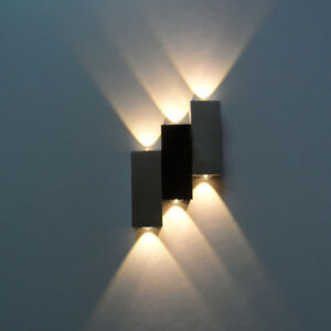 Details About Up Down 6w Led Wall Light Fixture Indoor Decor Lamp Step Lighting Hotel Office