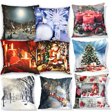 Velvet Suede Soft Touch Christmas LED Light Up Battery Cushion or Cushion Covers