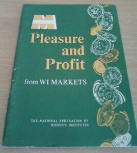 VINTAGE LIVRE plaisir et profit de W je marchés 40 PAGES 1976 réimpression (C1)