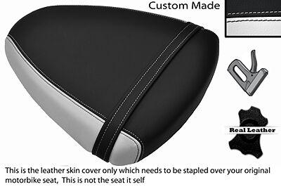 WHITE & BLACK CUSTOM FITS SUZUKI TL 1000 R 98-02 REAR SEAT COVER