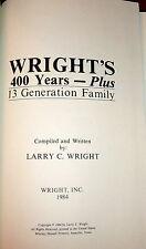 Wright Family Genealogy, Colonial New Jersey & Kentucky History. SIGNED
