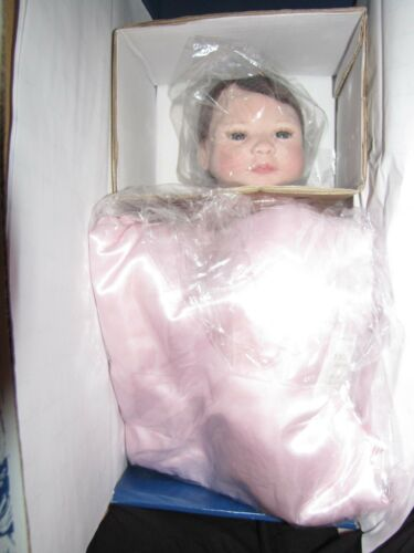 """Masterpiece Gallery Limited Edition Sheila Michael 18/"""" Just Born in Pink Doll"""