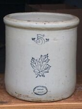 Antique/Vintage 5 gallon crock early 20th century Western stoneware Monmouth ILL