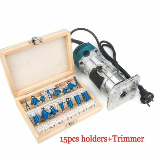 Woodworking Electric Trimmer 800W 30000rpm Wood Carving Engraving Machine Router