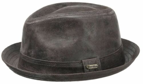 Stetson Radcliffe Leather Trilby Hat