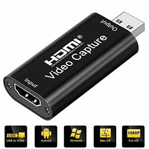 Capture Card, DIWUER 4K HDMI to USB 2.0 Video Device, 1080P HD 30fps...