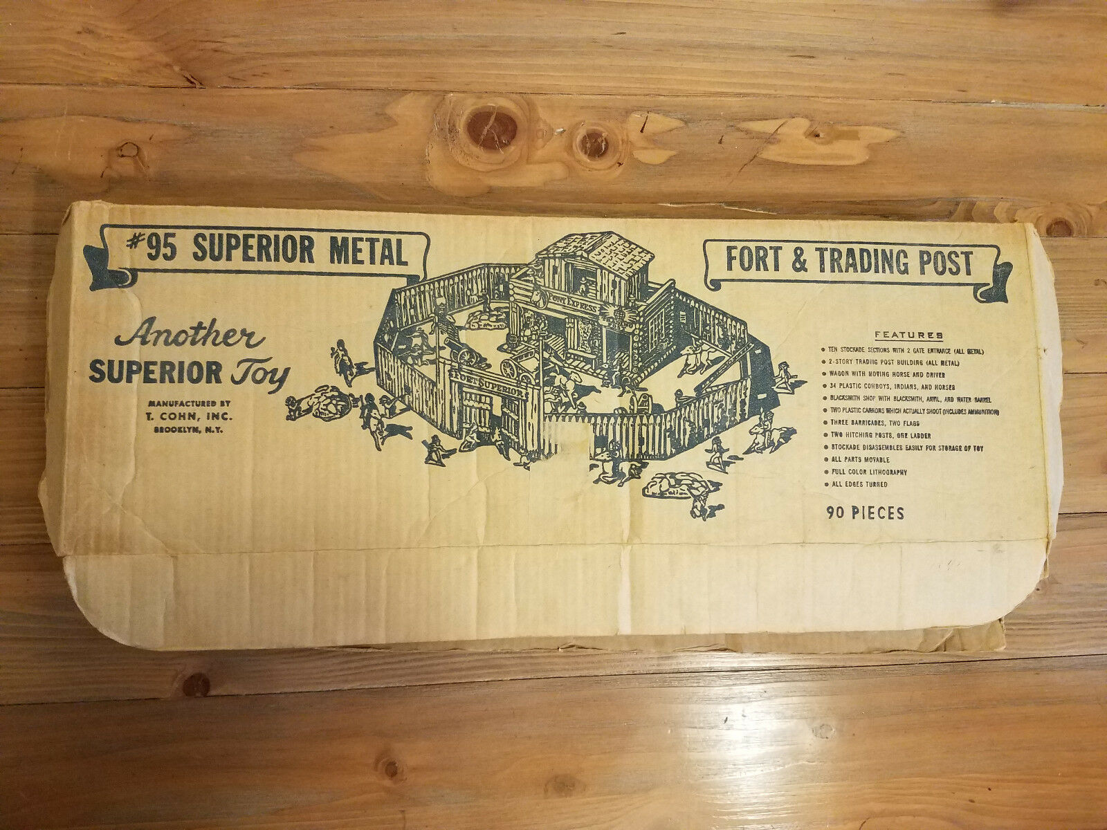 Fort Superior T. Cohn Boxed Great Condition Western Tin Litho 1950s
