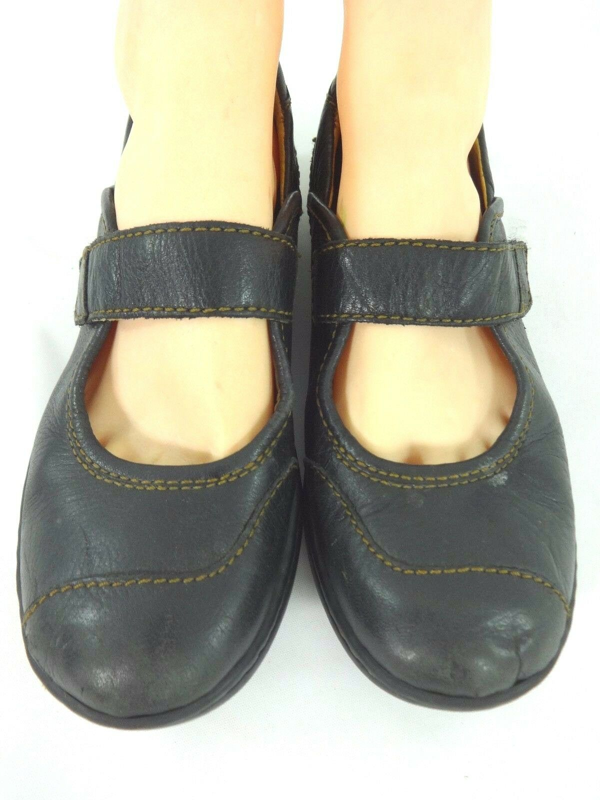 BORN WOMENS COMFORTABLE BLACK / LEATHER MARY JANES SIZE 8 / BLACK 39 477796