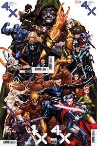 Marvel-X-Men-Fantastic-Four-Mark-Brooks-Connecting-1-4-Variant-Complete-Set-NM