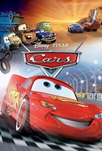 001 Cars Pixar Lightning Mcqueen Cartoon Movie 24 X35 Poster Ebay