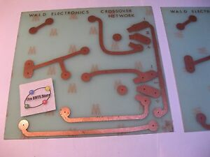 Crossover-Network-WALD-ELECTRONICS-Blank-Unpopulated-PCB-Pair-NOS-Qty-2