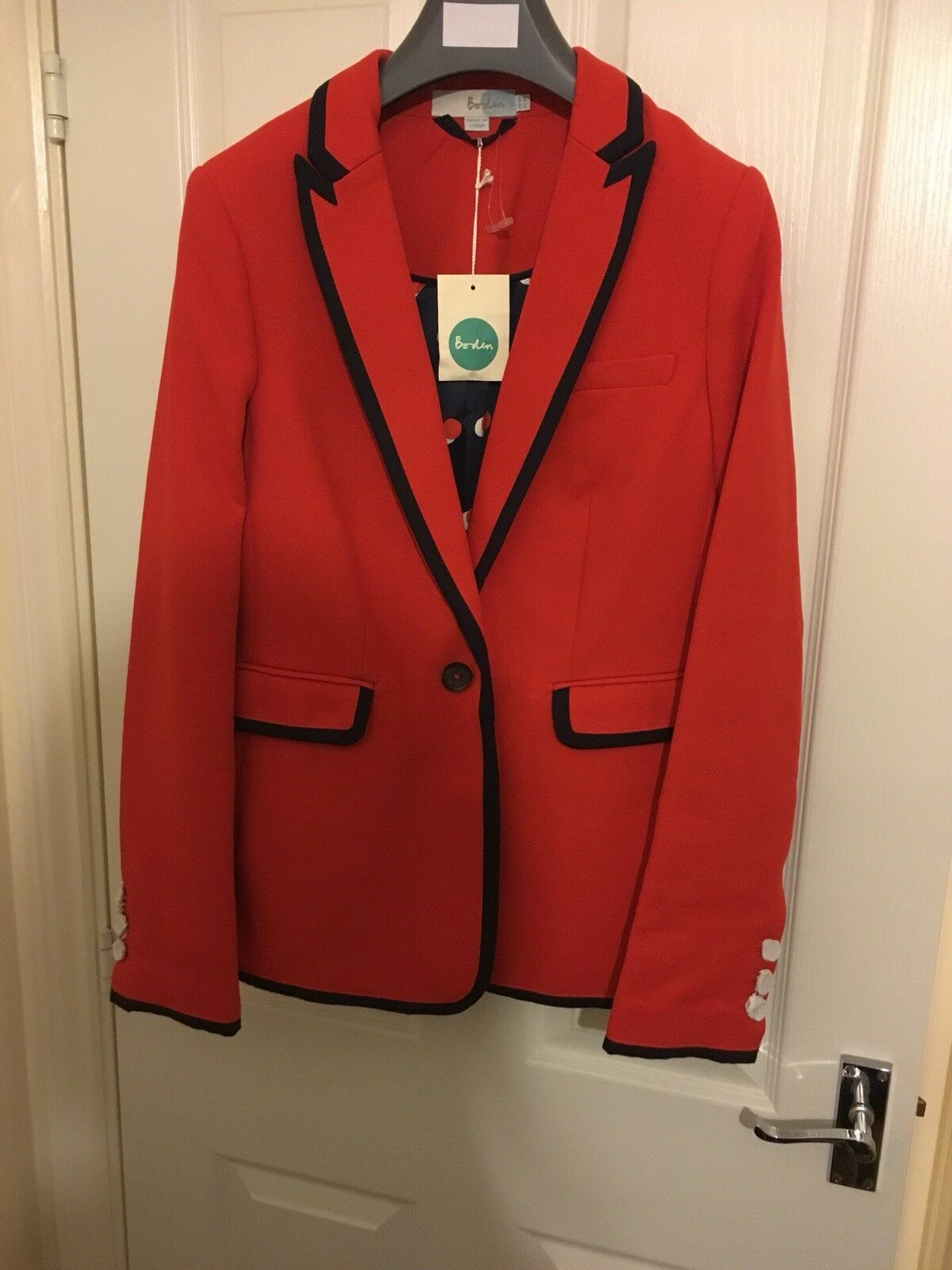 BODEN NWT Picardy Tipped Blazer Red REGULAR