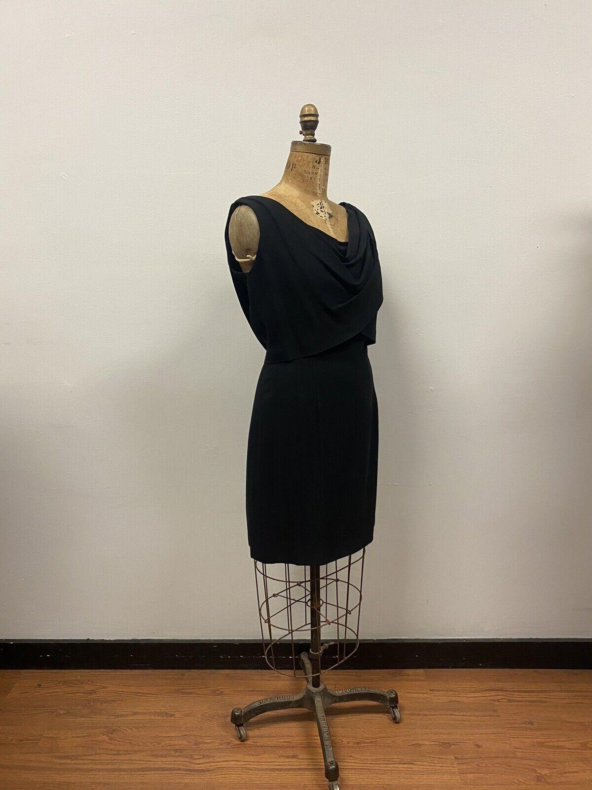 Vintage 1950's SUZY PERETTE Black Cocktail Dress,… - image 3