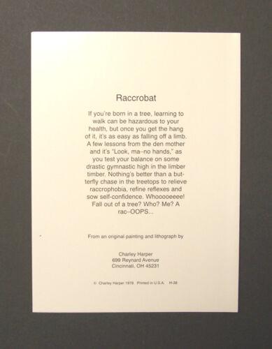 "Charles//Charley Harper Notecards /""Raccrobat/"" 4 Pack w//Envelopes"