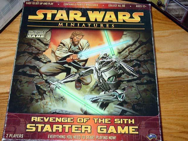 Wizards of the Coast Estrella Wars 62 Miniaturas-La venganza de los Sith Juego de Arranque