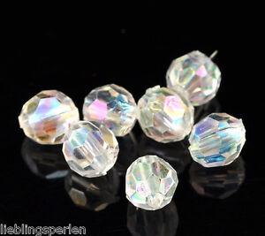 500-Klar-Bicone-Rhombe-Rund-Facettiert-Acryl-Boehmen-Perlen-Beads-6mm