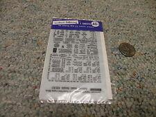 Letraset Dry Transfers  decals HO K52/4/1 Refrigerator Cars data black    E50