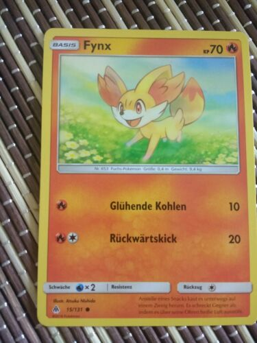 Pokemonsammelkarte Fynx 15//131 Grauen der Lichtfinsternis