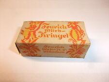 a Kaufmannsladen Schaugericht Pappschachtel Verpackung Feurich mürb-Kringel 1930