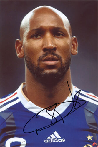 Nicolas Anelka, France, PSG, Real Madrid, Chelsea, signed 12x8 inch photo. COA.