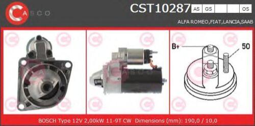 Motorino avviamento CASCO CST10287AS ALFA FIAT LANCIA SAAB