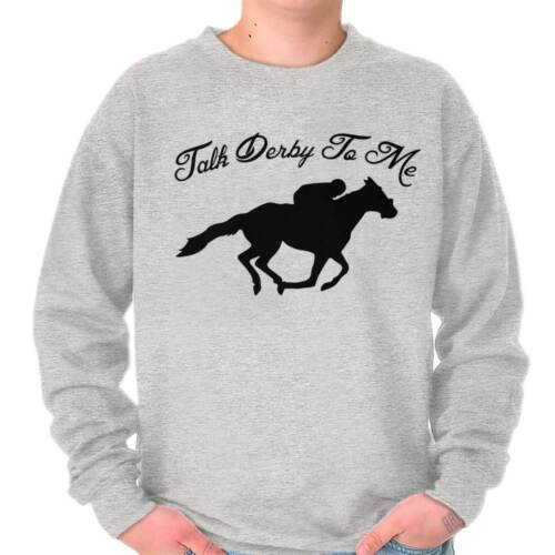 Talk Derby To Me Funny Kentucky Horse Country Sweat Shirt Sweatshirt For Womens