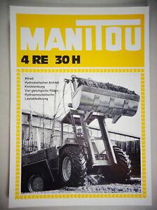 Prospektblatt/Typenblatt Manitou 4 Re 30 H Stand 04/1978