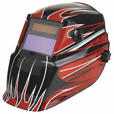 Lincoln Electric Auto Darken Variable Shade Welding Helmet With Grind Mode Red
