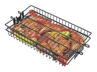 Rotisserie Grill Basket Non-stick Flat Spit Bbq Grilling Accessory Outdoor Cook