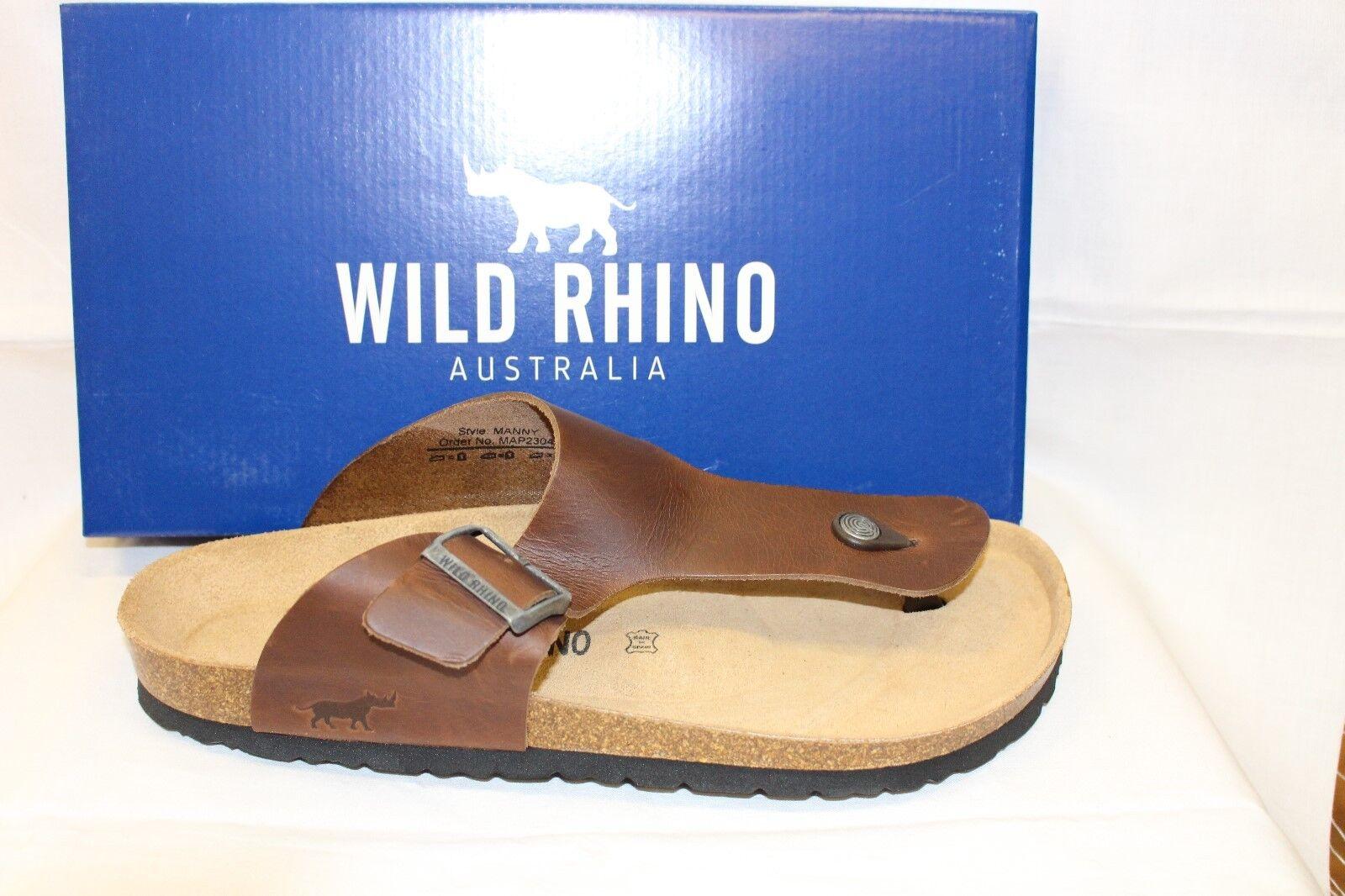 Uomo SHOES/FOOTWEAR - Wild Rhino Manny thong dk brown
