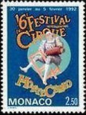 "MONACO STAMP TIMBRE N° 1810 "" CIRQUE , CLOWN MUSICIEN EQUILIBRISTE"" NEUF  xx TTB"