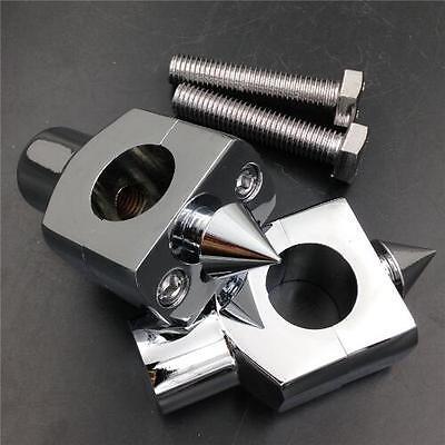 Black 1 25mm Handlebar Riser for Cruiser Chopper Cafe Racer Bobber Custom