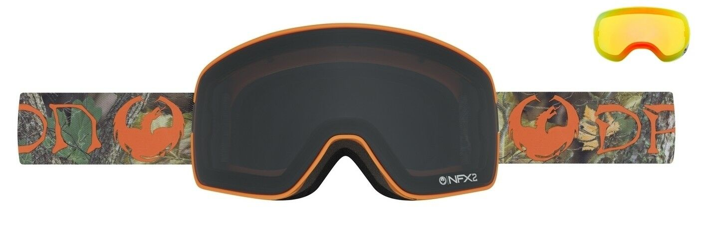NEW Dragon NFX2 Danny Davis Pro Dark Smoke Mens Ski Goggles + lens Msrp