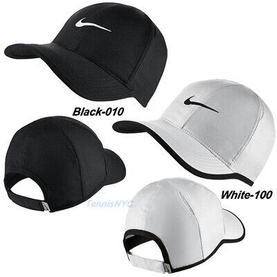 NIKE Men's Featherlight Tennis Running Hat Cap Swoosh Dri-Fit Adjustable  679421 | eBay