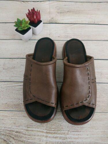 Dansko Women's Leather Slip On Sandal Size 38  7.5