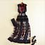 Womens Ball Gown Runway Sleeveless Embroidery High Waist Floral Slim Long Dress