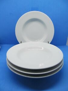 Pottery Barn GREAT WHITE  10 1/4 in. Rimmed Soup Pasta Bowls Bundle of 4