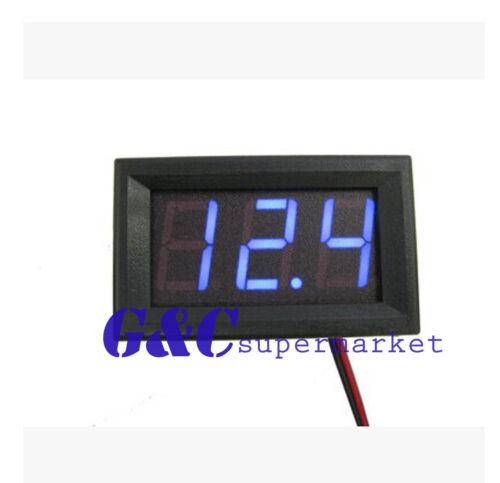 10pcs Blue LED DC 5-120V digital Voltmeter 36v//48v//60V//72v//84//96v car Battey M39
