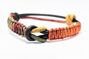 Leather bracelet adjustable