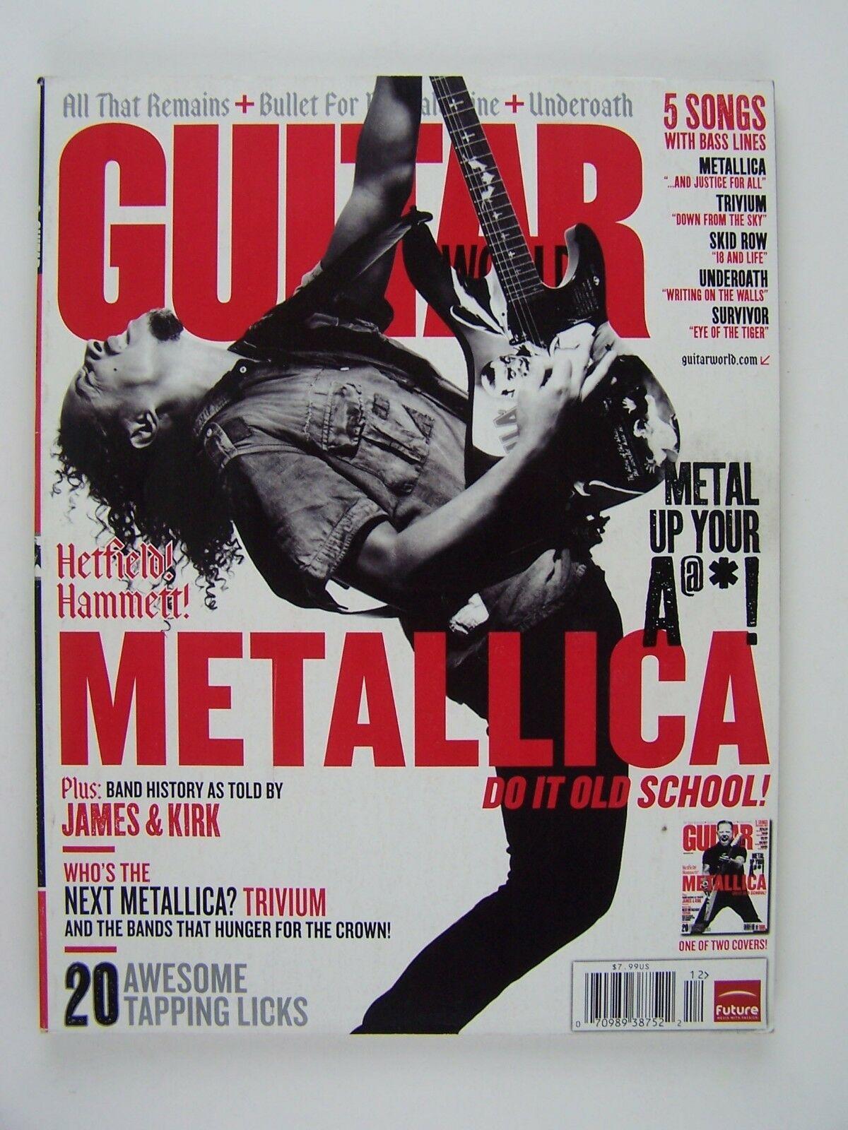 Guitar World Magazine December 2008 Metallica Trivium 2