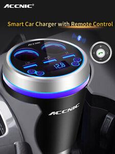 Dual-Cigarette-Lighter-Socket-3-USB-Bluetooth-FM-transmitter-Car-Charger