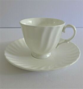 Royal-Doulton-White-Cascade-Demitasse-Coffee-Cup-and-Saucer-Set-H5073-Espresso